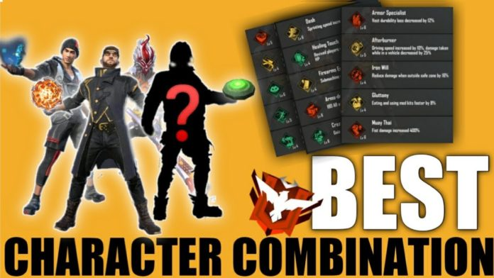 Best Character Skill Combination For Free fire, best character skill combination for Free fire 2021, best character Combination In Free fire , best free fire character Combination , free fire 2021 ,