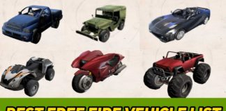 Which is the best Vehicle In free fire, Free fire all Vehicle list