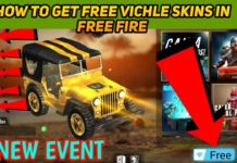 How to Get Free Vehicle skins In free fire