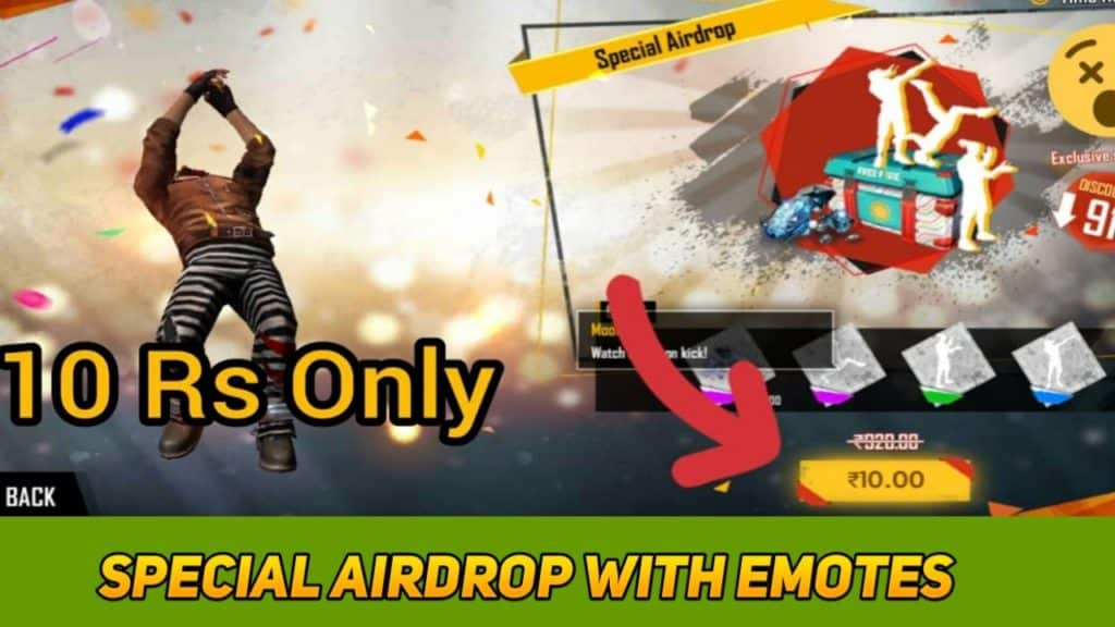 how to get Special airdrop with emotes, Special airdrop with emotes, how to get Special airdrop with 3 emotes, how to get Special airdrop with three emotes and daimonds