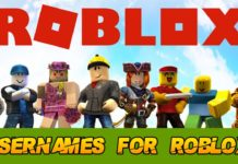 usernames for roblox