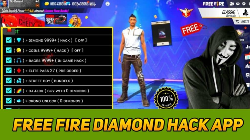 free fire unlimited diamonds hack download