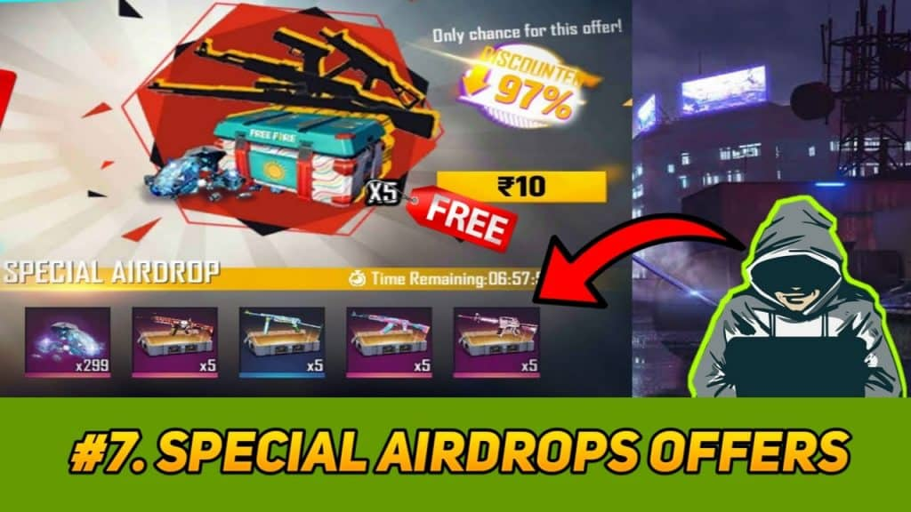 hack unlimited diamonds in free fire using Special airdrop trick