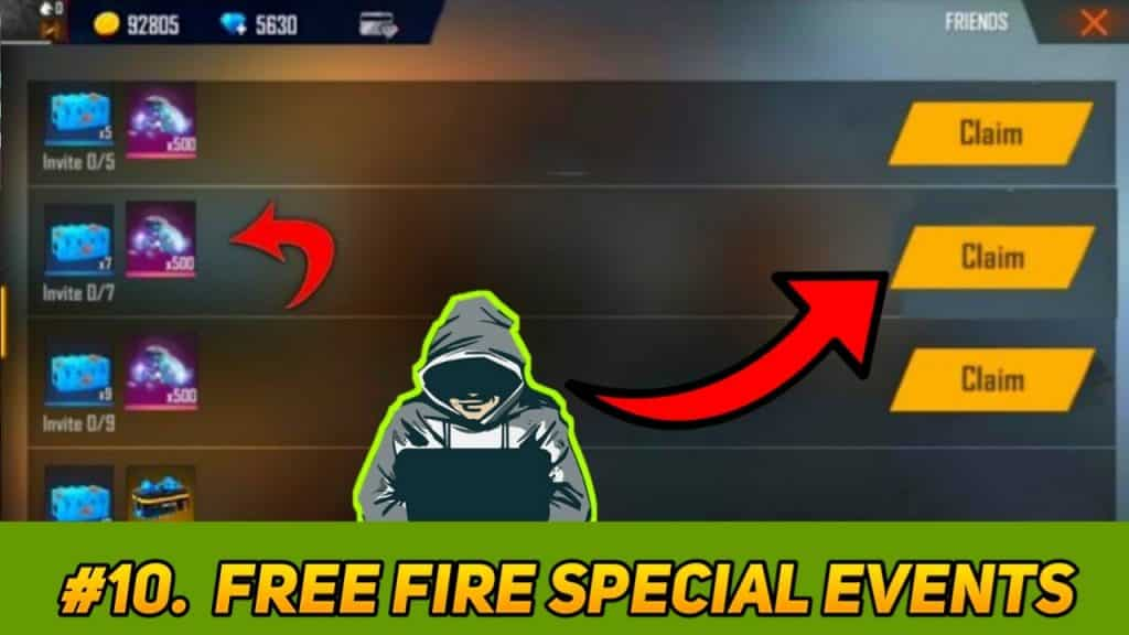 free fire latest events trick to generate 99999+ unlimited diamonds
