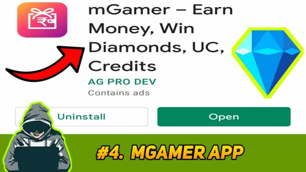 How to get hack diamonds in free fire using mGamer app