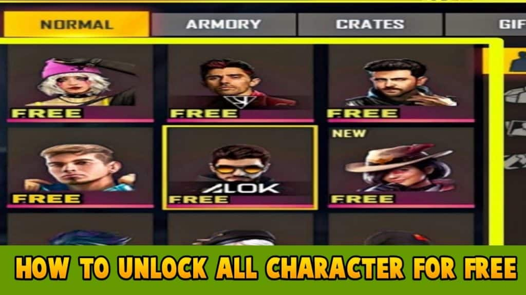 How To Get All Character In Free Fire For Free