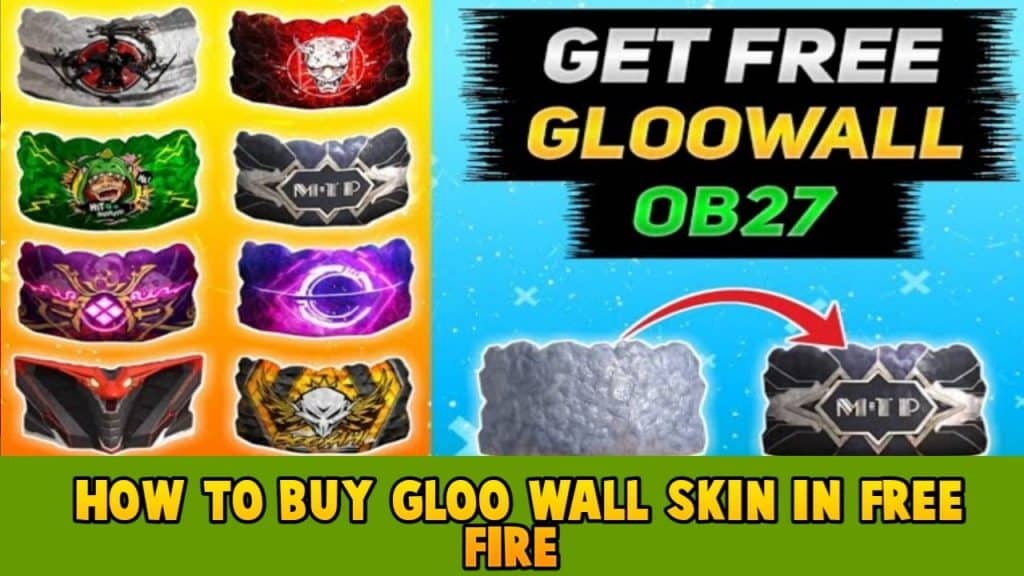 How to buy gloo wall skin in free fire, How to purchase gloo wall skin in free fire