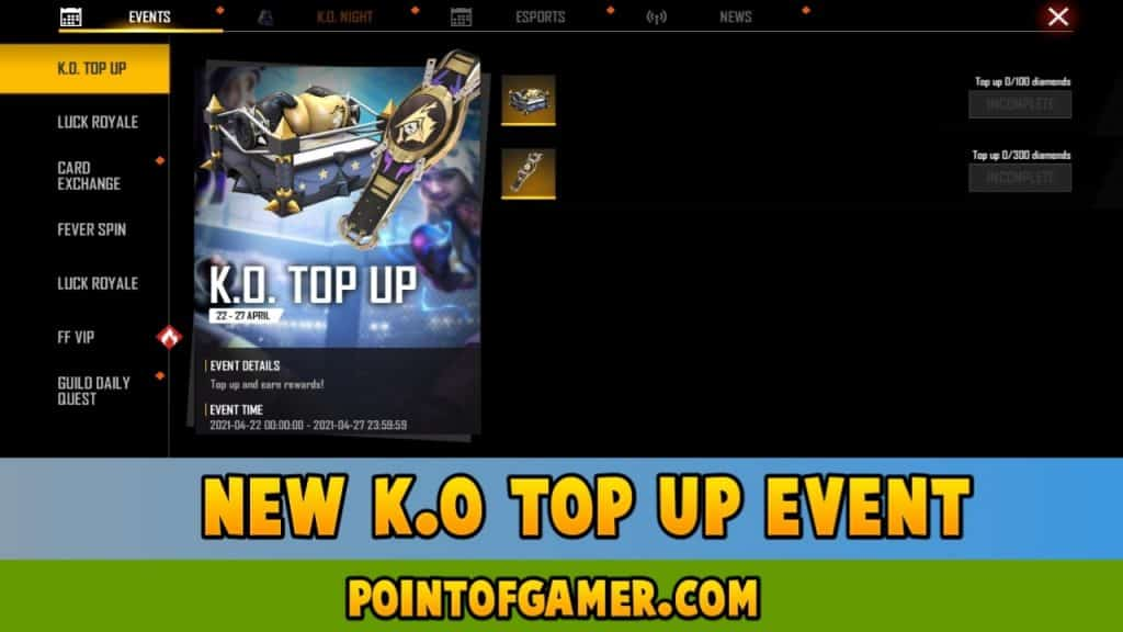 K.O Top-Up Event