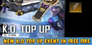 New K.O. Top-Up Event in Free Fire