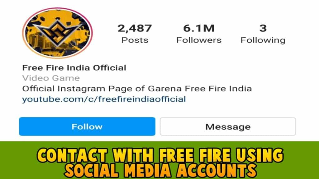 Contact with free fire using social media accounts