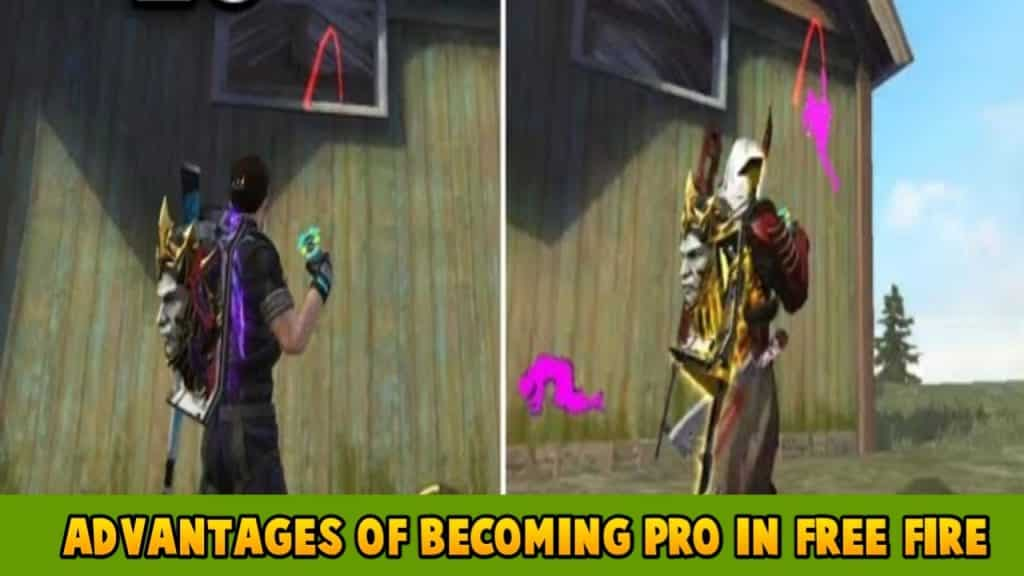 Advantages of becoming pro in free fire