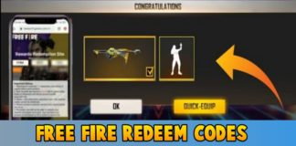Free Fire Redeem codes For Today 20 June 2021