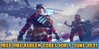 Free Fire Redeem codes For Today 5 June 2021