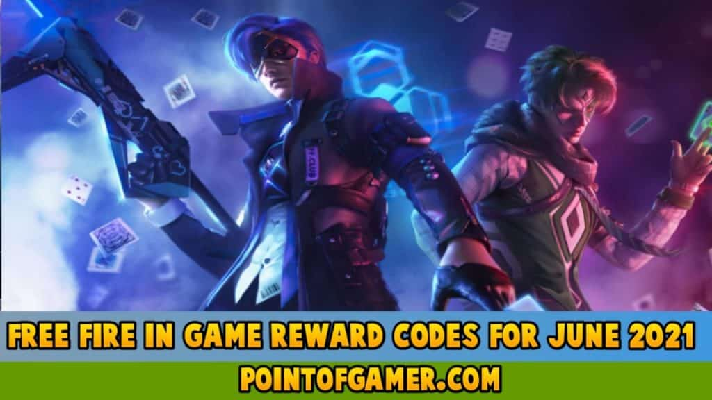 Free fire In-game rewards redeem codes for June 2021