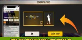 Free fire redeem codes for 10 June 2021