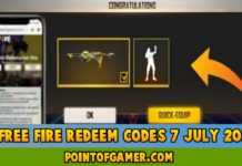 Free Fire Redeem codes 7 July 2021