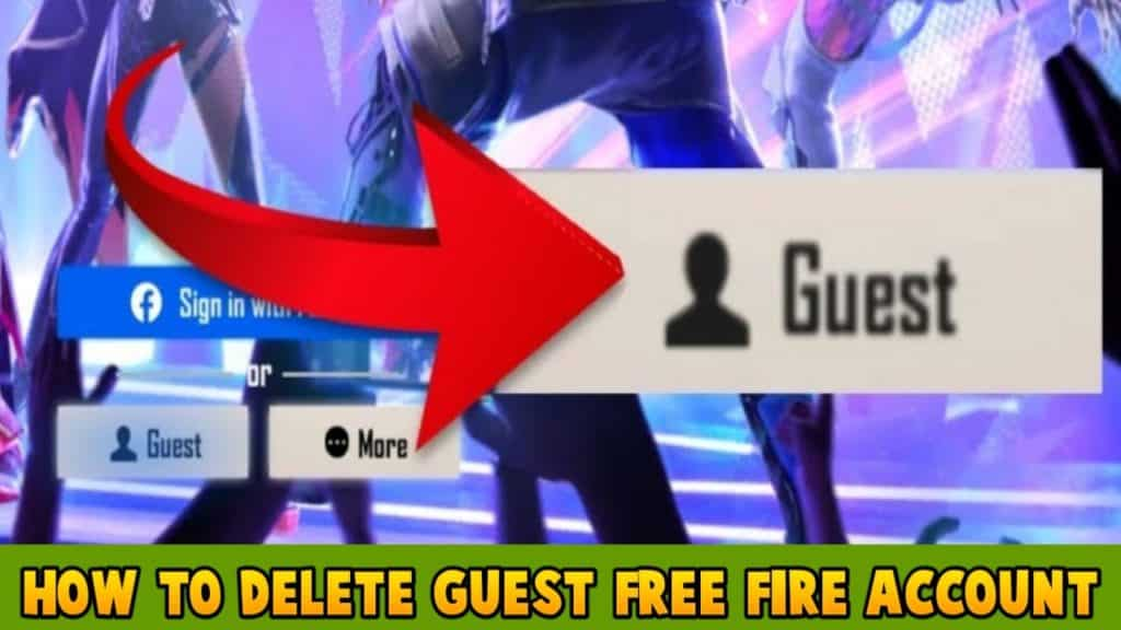 How to delete guest free fire account