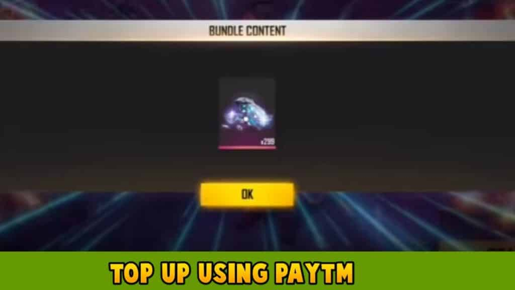 Top up using Paytm