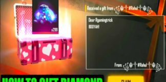 How to gift diamonds in free fire