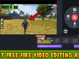 free fire video editing apps