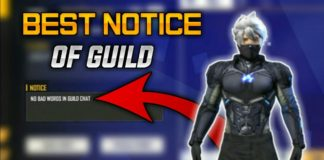 notice for free fire guild